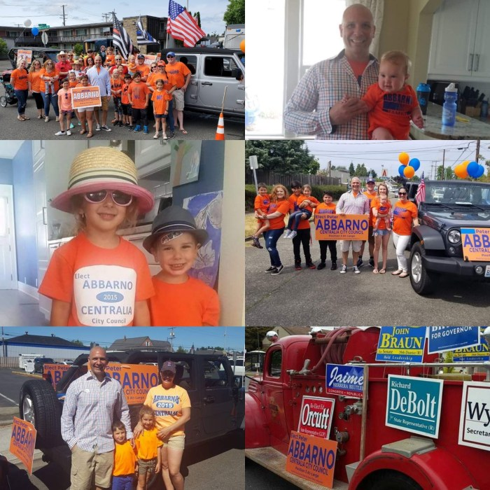 Four years of fun parades throughout our community! www.ElectPeterAbbarno.com