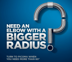 Picoma large elbows over 60 inches