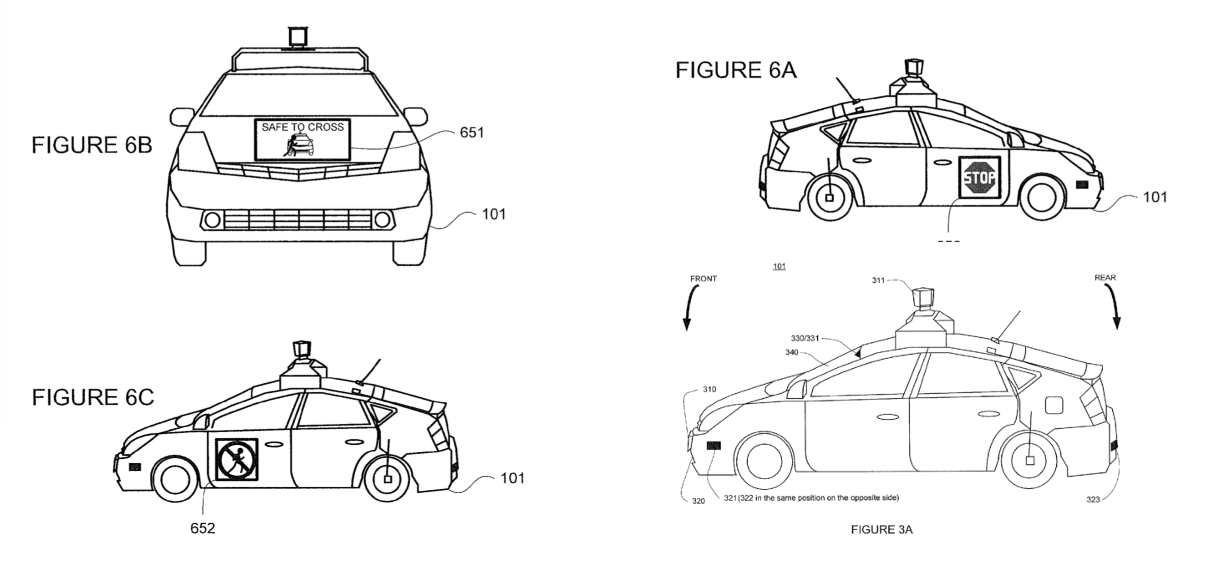 Patents for Google's self-driving car detail inside