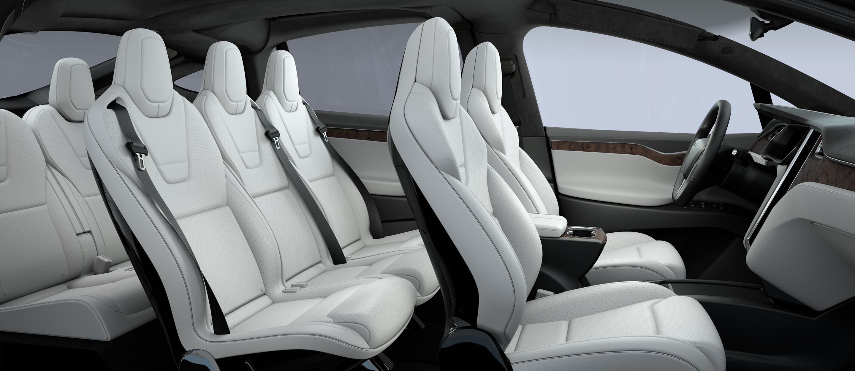 Tesla white seats