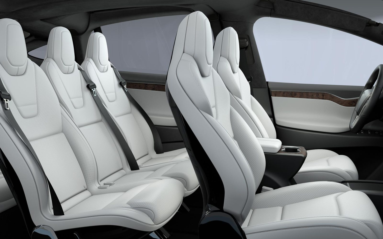 Suv Tesla Interior >> A Look At The Tesla Model X S Vegan Ultra White Interior Video