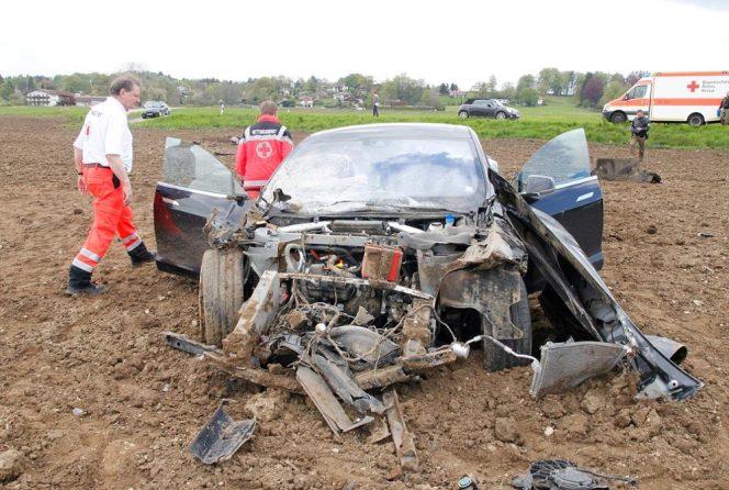 tesla model s crash bermany 1