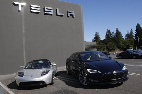 tesla Roadster with Model S