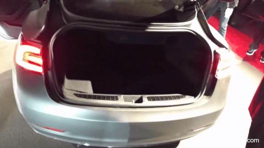Tesla Model 3 trunk 2