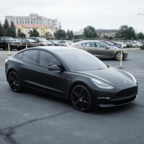 model 3 prototype matte black fremont