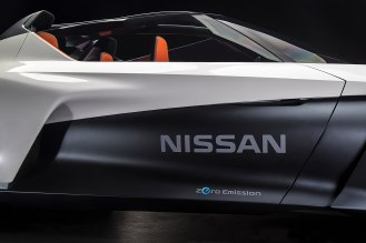 RIO DE JANEIRO, Brazil (August 4, 2016) - Nissan Motor Co., Ltd today unveiled the working prototype of its futuristic BladeGlider vehicle, combining zero-emissions with high-performance in a revolutionary sports car design. The vehicles, developed from concept cars first shown at the Tokyo Auto Show in 2013, have arrived in Brazil to symbolize future technologies that will combine Intelligent Mobility, environmentally friendly impact and sports-car driving capabilities.