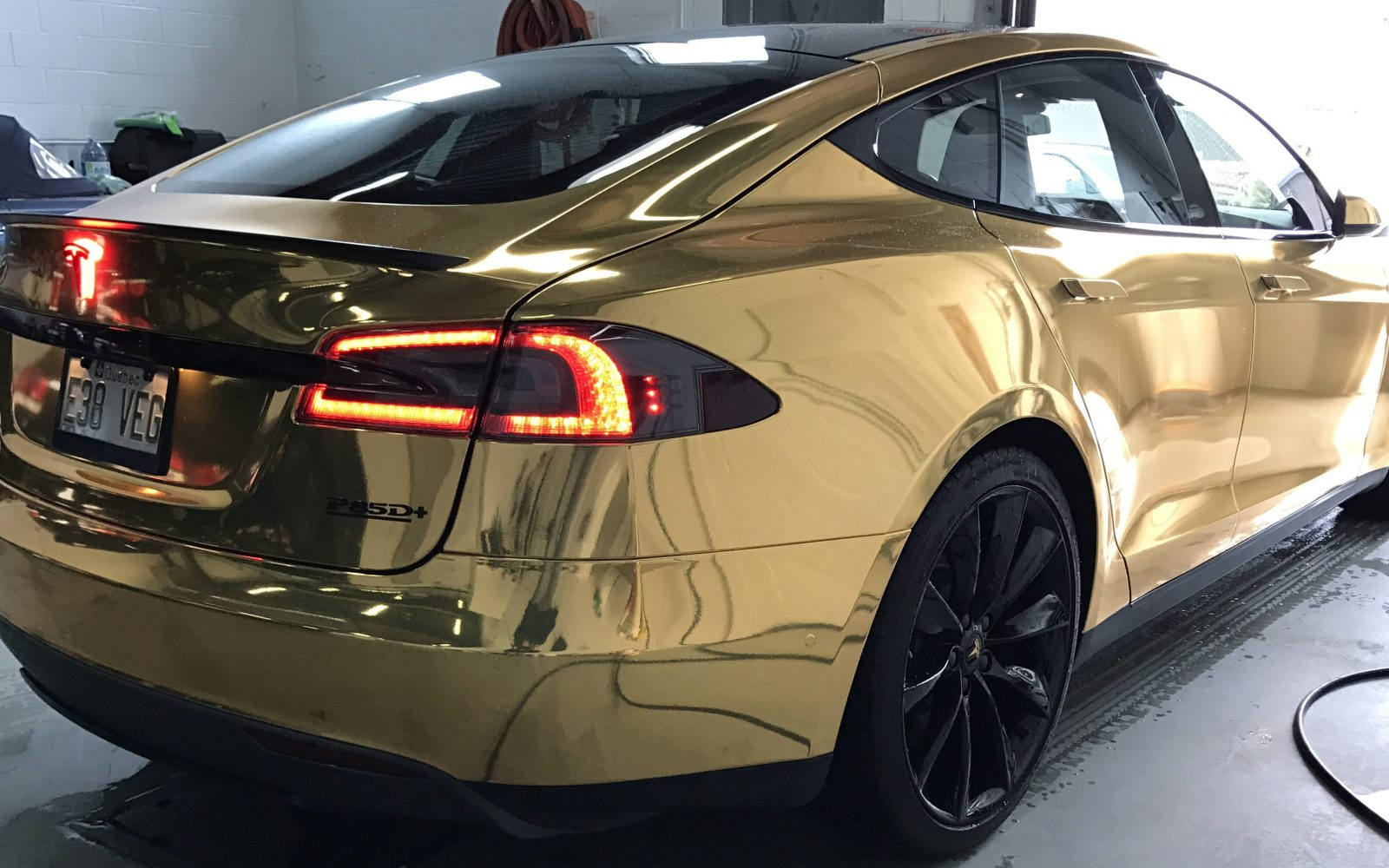 A Tesla Fit For President Trump Gallery Of New Gold