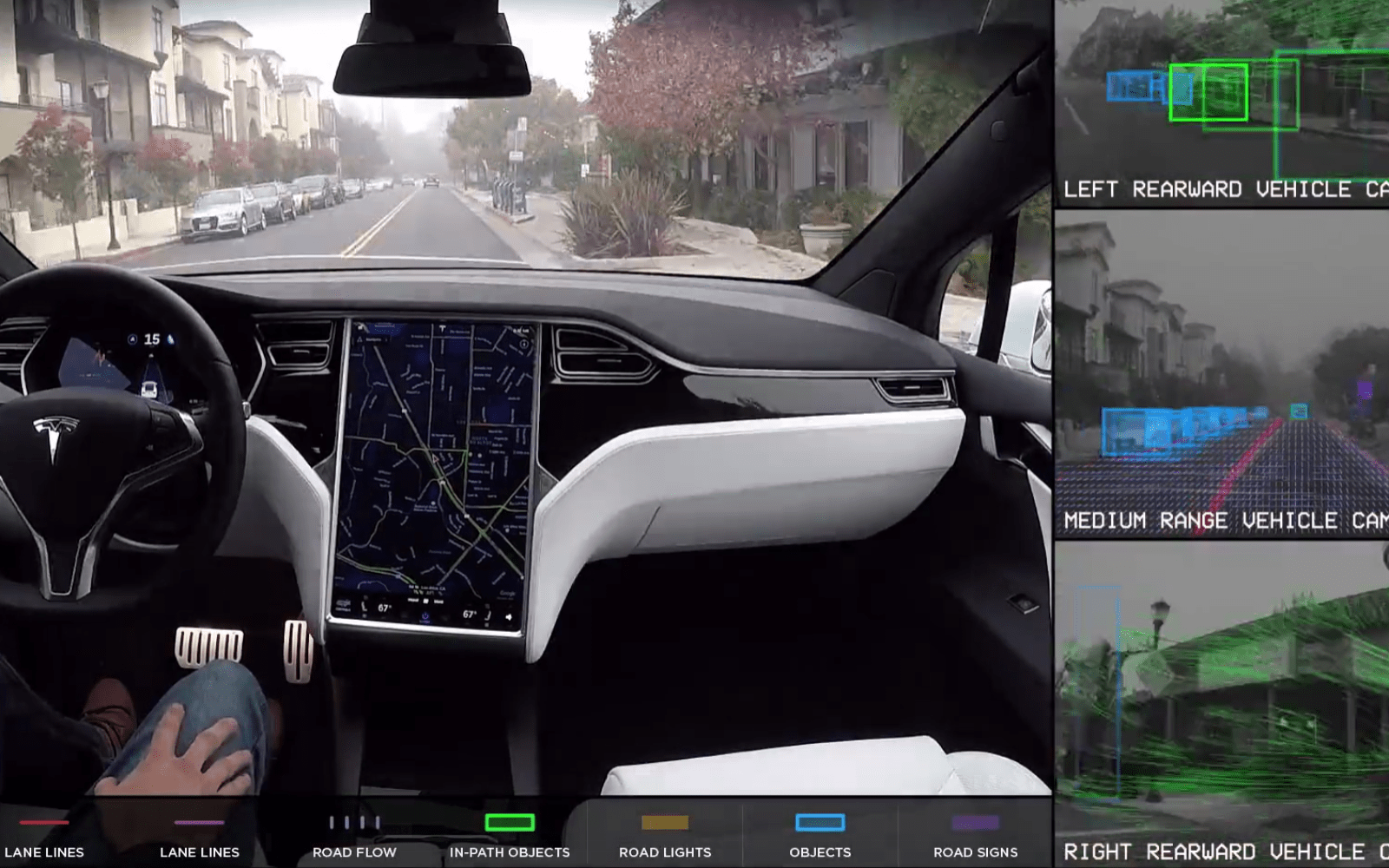 Watch Tesla's latest self-driving demo in real-time instead of sped up for better look at the system