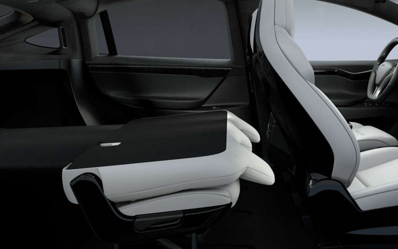 Tesla introduces new fold-flat seats config in Model X, making it SUV with best-in-class cargo