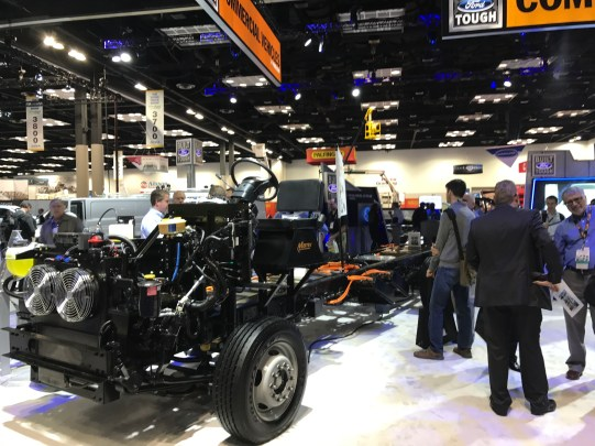 Electrified Chassis 2 in Ford booth
