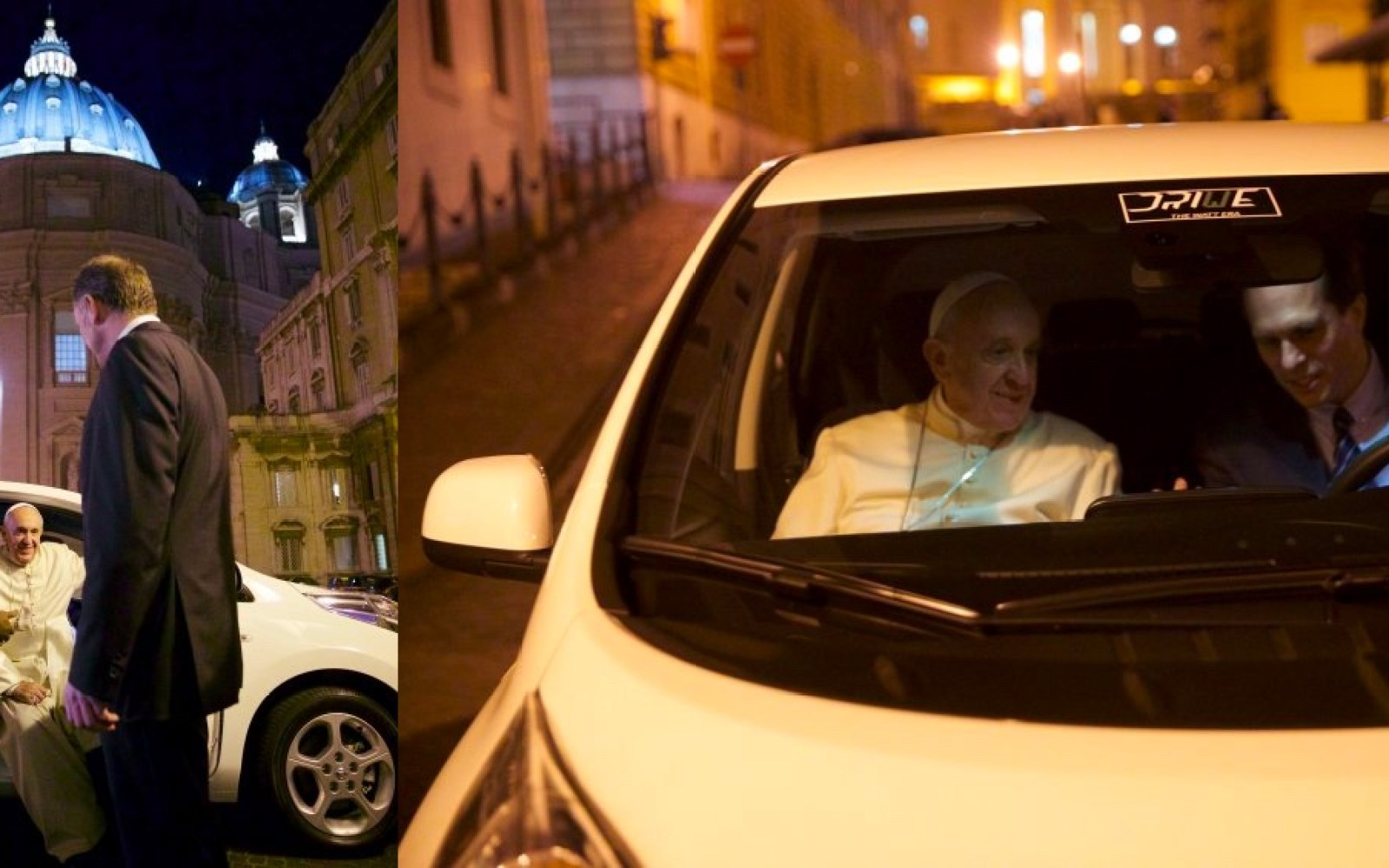 Pope Francis was offered a Tesla Model S or a Nissan LEAF, he chose the LEAF