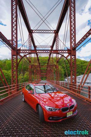 130 Croton Reservoir Pump house Electrek BMW 330e Hybrid 3 series sports sedan review
