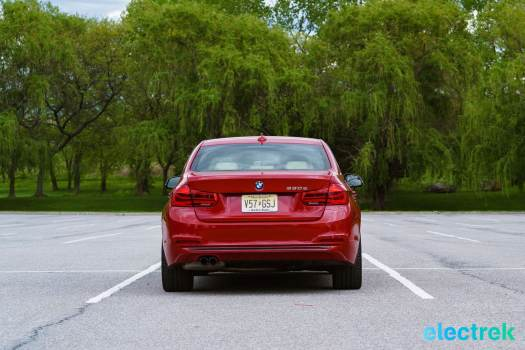 230 rear trunk line BMW 330e Hybrid 3 series sports sedan review