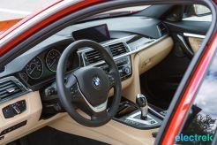280 interior dashboard BMW 330e Hybrid 3 series sports sedan review-310