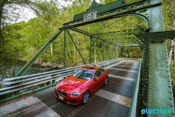 30 Electrek BMW 330e Hybrid 3 series sports sedan review bridge croton river ny