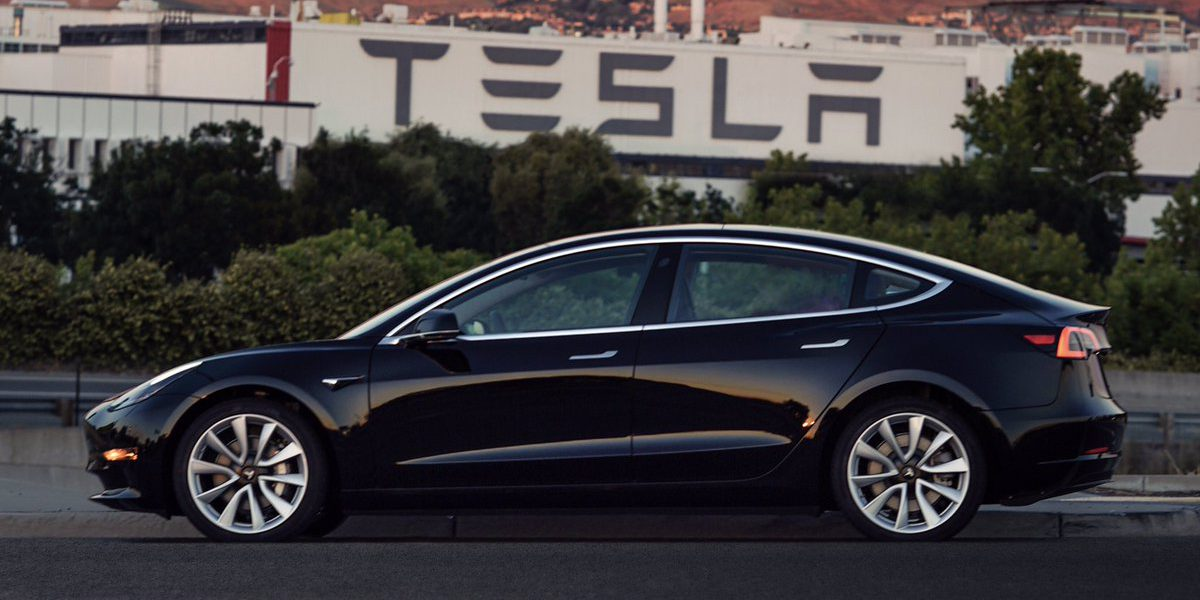 Tesla Model 3: pictures of the very first production unit at the factory