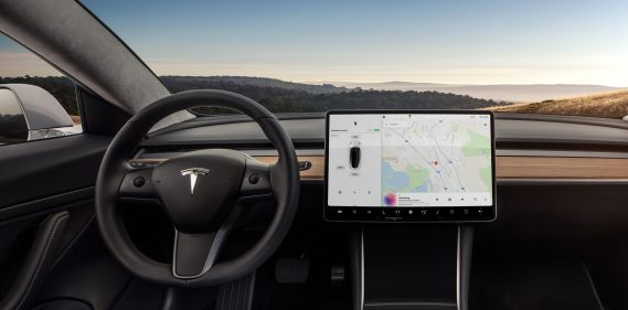 Model 3 Dashboard - Head on view