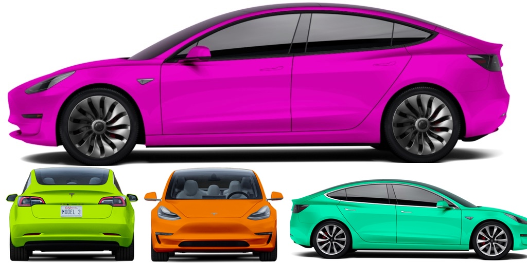 Tesla Model 3 colors: 3rd party configurator gives you ...