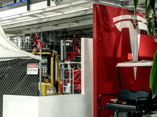 Tesla Model 3 production line