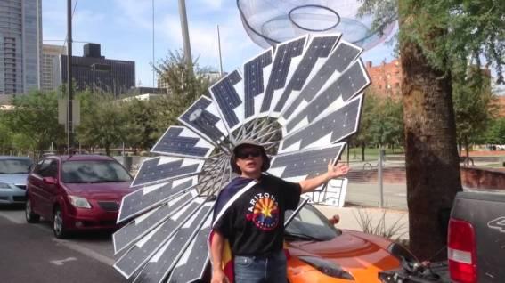 Tesla roadster solar man