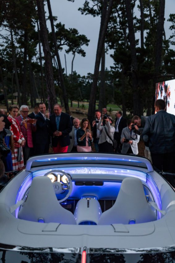 Impressionen der Weltpremiere des Vision Mercedes-Maybach 6 Cabriolet. Enthüllung während der Monterey Car Week in Pebble Beach, Kalifornien, 18. August 2017. Impressions of the World Premiere Vision Mercedes-Maybach 6 Cabriolet. Public reveal during the Monterey Car Week in Pebble Beach, California, August 18, 2017.