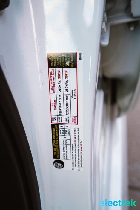 100 New Nissan Leaf 2018 tire pressure National Drive Electric Week Bridgewater NJ-57