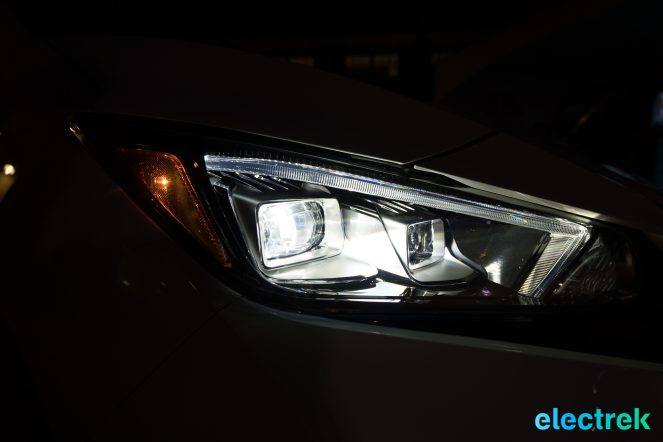 111 headlight design on dark night New Nissan Leaf 2018 National Drive Electric Week Bridgewater NJ-68