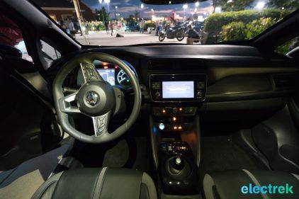 117 interior night dashboard lights New Nissan Leaf 2018 National Drive Electric Week Bridgewater NJ-74