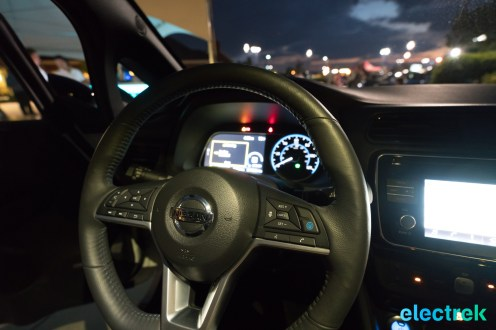 118 interior night dashboard lights New Nissan Leaf 2018 National Drive Electric Week Bridgewater NJ-75