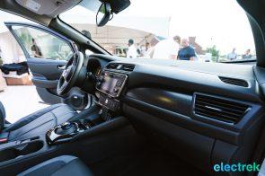 67 New Nissan Leaf 2018 dashboard design National Drive Electric Week Bridgewater NJ-20