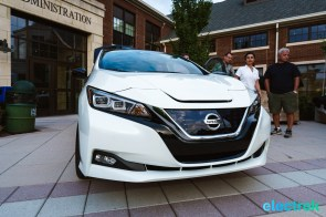 68 New Nissan Leaf front hood headlight 2018 National Drive Electric Week Bridgewater NJ-21