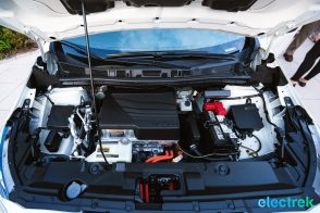 70 New Nissan Leaf 2018 engine bay motor space hood open National Drive Electric Week Bridgewater NJ-23