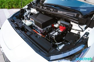 75 New Nissan Leaf 2018 engine bay motor space hood open National Drive Electric Week Bridgewater NJ-28