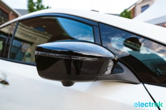 87 sideview side mirror New Nissan Leaf 2018 National Drive Electric Week Bridgewater NJ-44