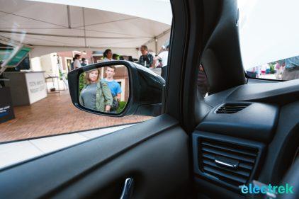 97 sideview mirror blindspot a pillar New Nissan Leaf 2018 National Drive Electric Week Bridgewater NJ-54