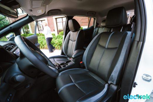 99 interior seats space spacious New Nissan Leaf 2018 National Drive Electric Week Bridgewater NJ-56