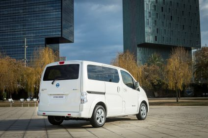 Nissan world premiere of new longer range e-NV200 van