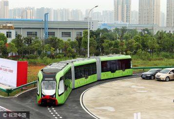 china trackless train 2