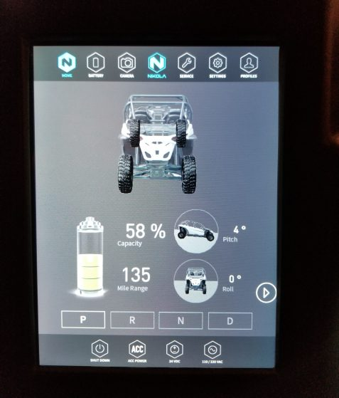 Nikola Post Ride Screen 1