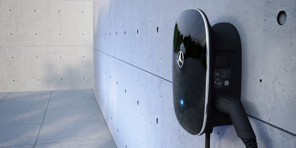 Die neue Mercedes-Benz Wallbox, Laden mit bis zu 22 kW The new Mercedes-Benz wallbox allows charging with up to 22 kW