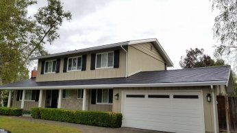 Tesla solar roof house