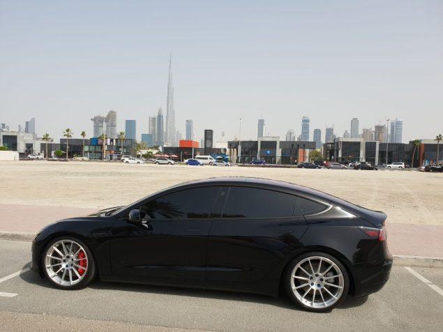 Tesla M3 in Dubai 2