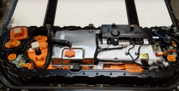 Model 3 battery pack electronic housing opened