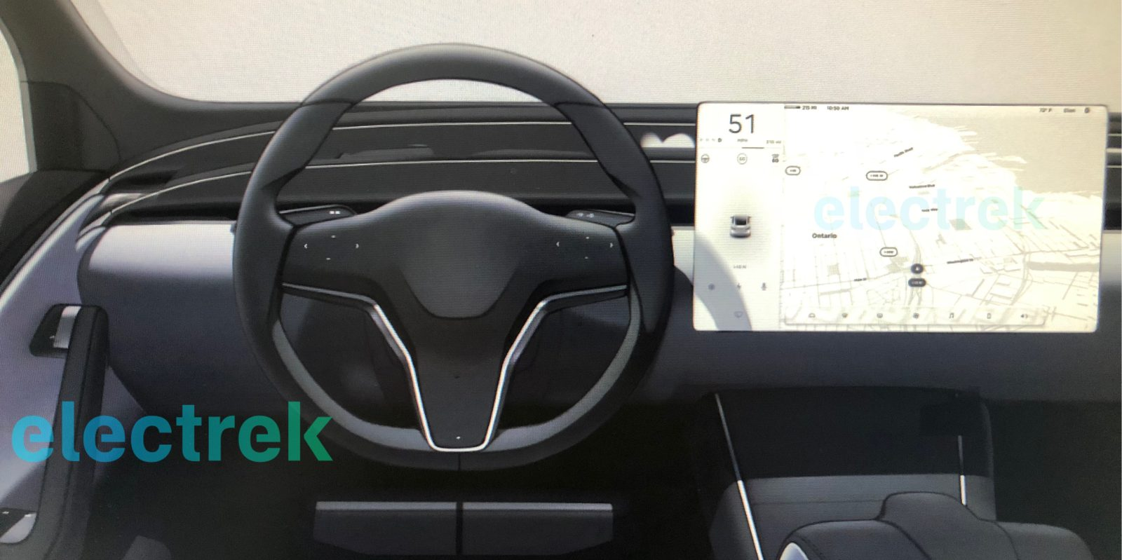 exclusive first look at tesla model s and model x interior refresh going spartan like model 3 [ 1600 x 799 Pixel ]