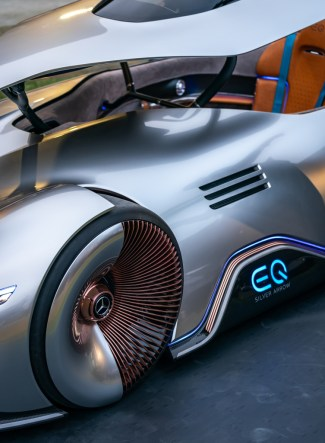 Weltpremiere des Mercedes-Benz Showcars Vision EQ Silver Arrow in Pebble Beach 2018 World premiere of the Mercedes-Benz Vision EQ Silver Arrow show car at Pebble Beach 2018
