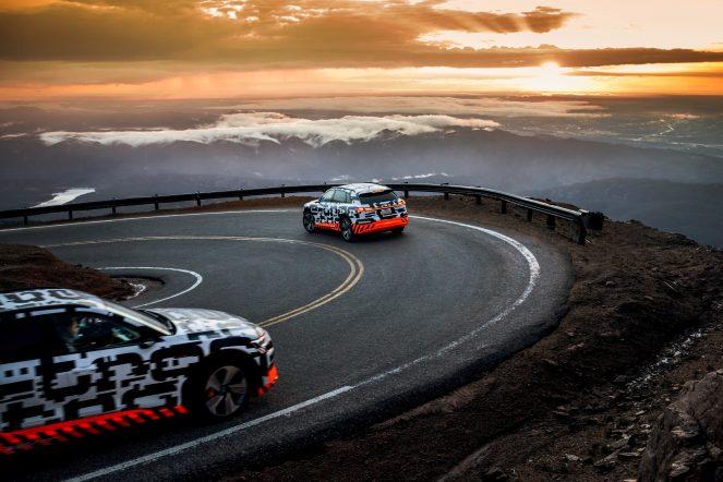 The Audi e-tron prototype on recuperation test at Pikes Peak