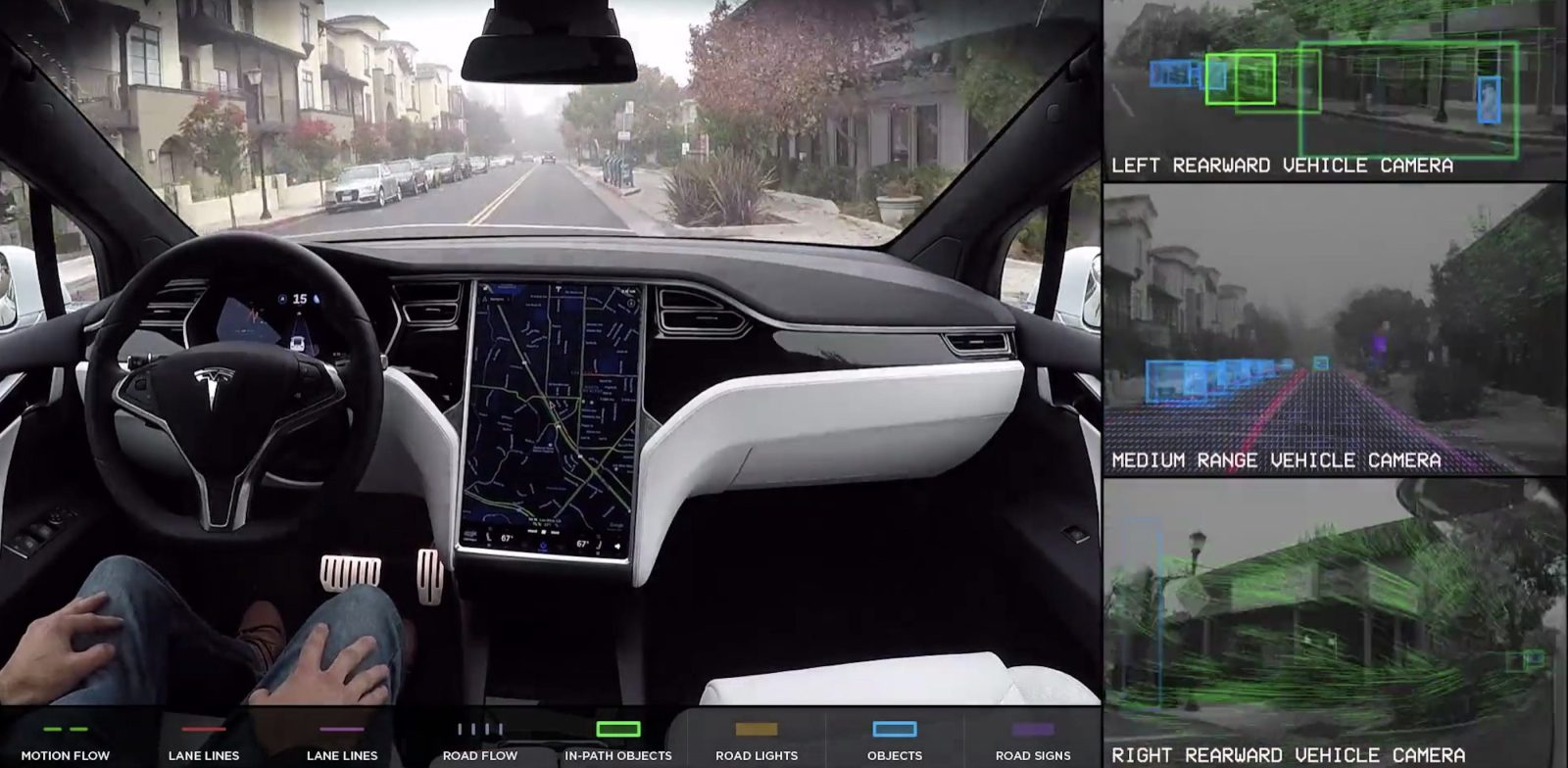 tesla leaks info about new self driving computer in latest software update [ 1600 x 784 Pixel ]