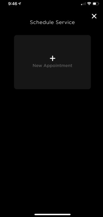 Tesla mobile app service 2