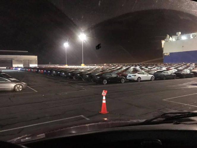 Tesla Model 3 europe shipment