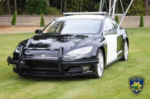 Tesla police vehicle Fremont